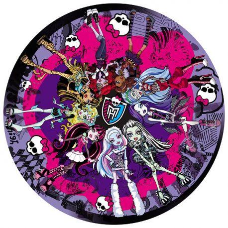 Puzzle okrągłe Monster High - Straszna Rewia Mody - 300 el.