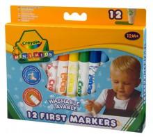 Crayola MINI KIDS - zmywalne flamastry od 1 roku życia - 12 szt.