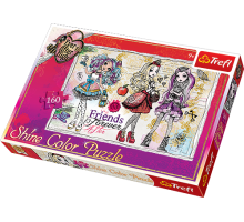 Puzzle TREFL Uczennice z Ever After High - Puzzle Shine Color - 160 el.