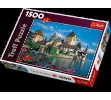Puzzle TREFL Zamek Oberhofen Szwajcaria  - 1500 el.