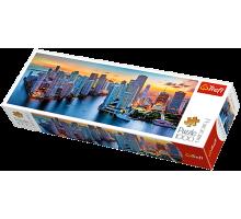 Puzzle TREFL Panorama - Miami o zmroku - 1000 el.