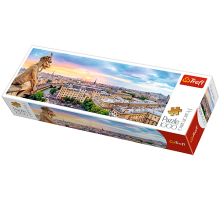 Puzzle TREFL Panorama - Widok z katedry Notre-Dame - 1000 el.