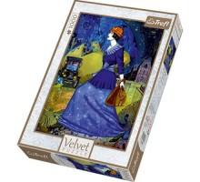 Puzzle TREFL Velvet - Spacer w Paryżu - 1000 el.