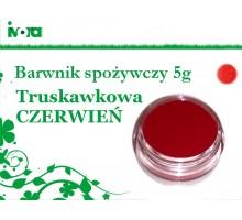 Barwnik spożywczy - czerwony - CZERWIEŃ TRUSKAWKOWA - 5g