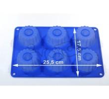 Forma silikonowa - babeczki III 6 szt.