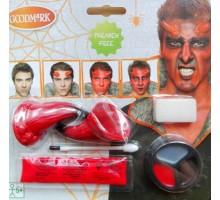 Diabelski makijaż - z rogami, zmień się w szatana na halloween
