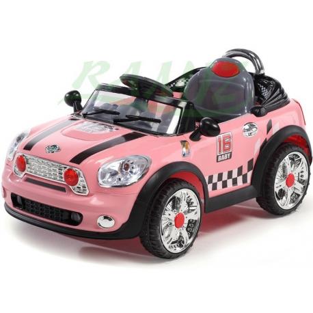 Auto dla dzieci wzorowane na MINI COOPER CABRIO + pilot - kolor różowy