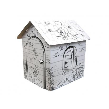 Domek do kolorowania dla dzieci 32 x 26 x 36,5 cm
