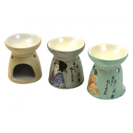 Ceramiczny kominek do olejków eterycznych - Gejsza
