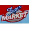 SUPERMARKET z wózkiem na zakupy kolor czerwony