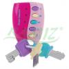 Zestaw grzechotek dla maluszka - kluczyk, kierownica i komórka - różowy