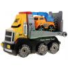 Duże auto ciężarowe z lawetą + mała koparka