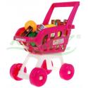 Koszyk na zakupy wraz z produktami kolor różowy lub czerwony