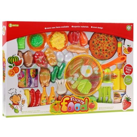 Ogromny zestaw kuchenny owoce warzywa itp - 60-elementów