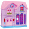 Rozkładany domek - Villa z pełnym wyposażeniem kolor różowy