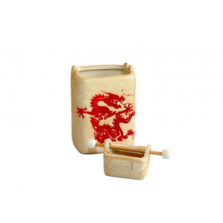 Ceramiczny kominek do olejków eterycznych - Czerwony Smok