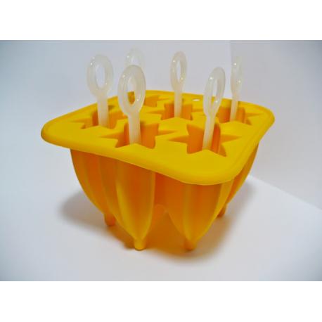Silikonowa foremka do lodów na patyku - Gwiazdki