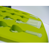 Silikonowa foremka do lodu z mieszadełkiem - serduszka