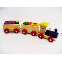 Drewniana kolejka - pociąg dla dzieci