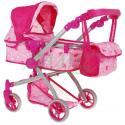 Wózek wielofunkcyjny dla lalek z obrotowymi kółkami MOTYLKI