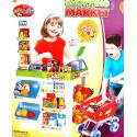 Zestaw supermarket + wózek + kasa fiskalna