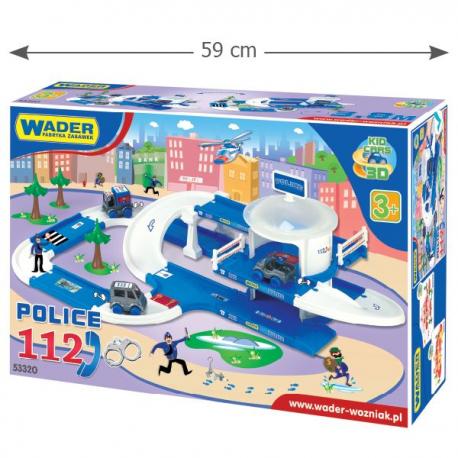 Wader Garaż Kid Cars 3d Policja 38m