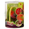 Śpiewający ptaszek DigiBird w klatce - pomarańczowo-różowy