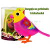 Śpiewający ptaszek DigiBird w klatce - żółto-różowy