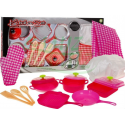 Akcesoria kuchenne + fartuch - różowy