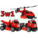 Klocki konstrukcyjne - 3w1 - Straż Pożarna 48el