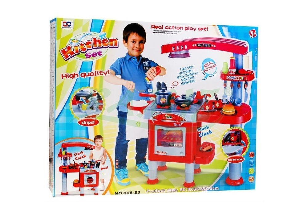 Kuchnia Dla Dzieci Z Okapem Akcesoria Czerwona