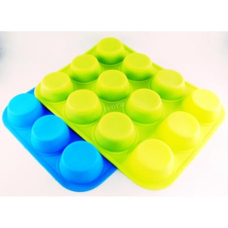 Forma silikonowa do muffinek - 12 szt