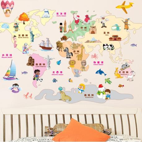 Naklejka na ścianę MAPA