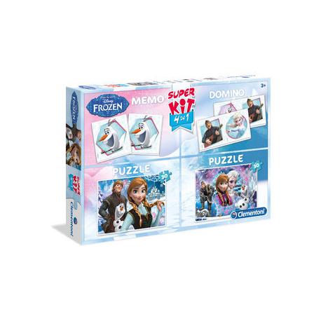 Puzzle Clementoni Kraina Lodu Super kit 4 w 1 - MEMO domino PUZZLE