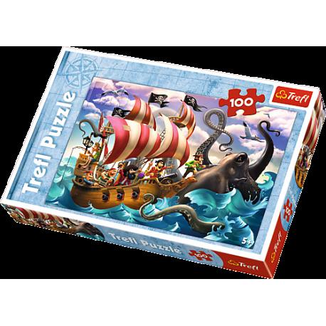 Puzzle TREFL Bitwa na morzu - 100 el.