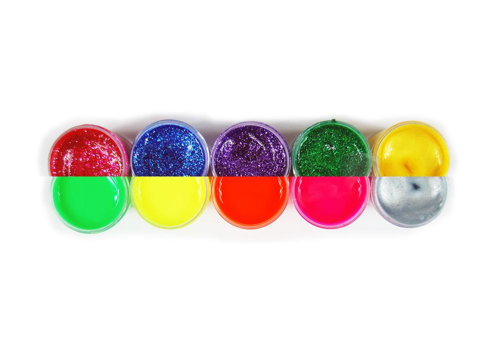 Farby Plakatowe Bambino Extra 10x20 Ml Fluo Brokat Zlota Srebrna