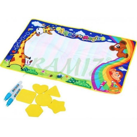 Mata wodna + wodny pisak + piankowe puzzle