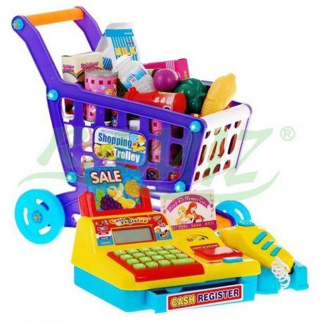 7b5a0de0c0faa1 Kasa sklepowa + koszyk z zakupami - żółta