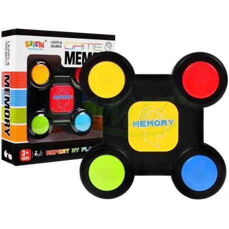 Elektroniczna KIESZONKOWA GRA mini MEMORY - kolor/światło i dźwięk