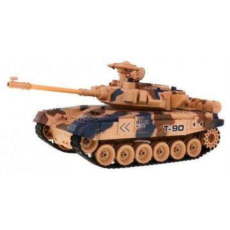 Ogromny (45 cm) czołg zdalnie sterowany 2.4 GHz - strzela kulkami i dymi T-90