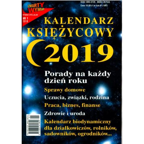 Kalendarz księżycowy 2019- Czwarty Wymiar