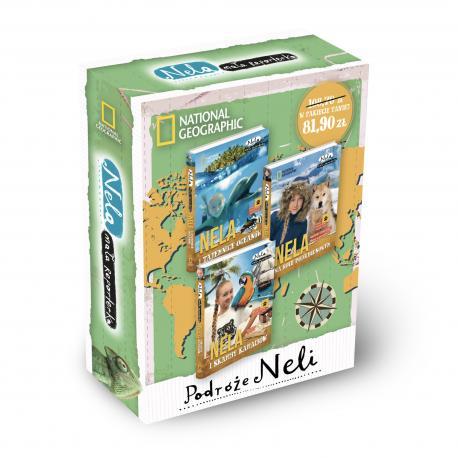 Pakiet Nela cz. 6/7/8 (Nela na kole podbiegunowym + Nela i skarby Karaibów z mapą + Nela i tajemnice oceanów