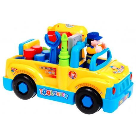 Rozkręcalne auto z narzędziami - mały majsterkowicz