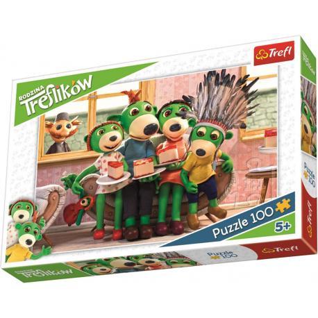 Puzzle TREFL Rodzina Treflików - zabawa w Indian - 100 el. (16305)